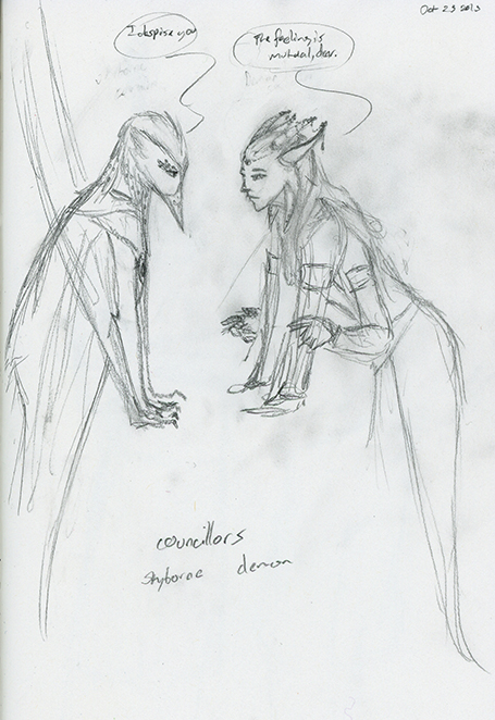 Concept: Skyborne & Demon Councilors